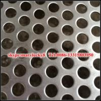 China Aluminum 3003-H14 Round Hole Perforated Metal 0.032 gauge on sale