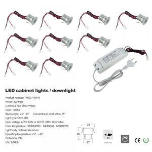Best 3W Mini Led Cabinet Light Power Driver Kit Dimmable Recessed Led Down Light Spotlight Interior Led Light Fixtures wholesale