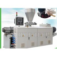 China Vertical Conical Twin Screw Extruder Machine SJZ 65 / 132 Model For Conduit Pipe on sale