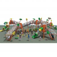 Best Children outdoor Climbing Rope with plastic knot playground equipment - with slide wholesale
