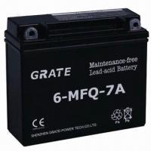 China Maintenance-free Motorcycle Battery, 7Ah Capacity on sale