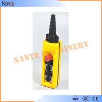 China Yellow / Black ABS Waterproof IP65 Hoist Pendant Control Crane Remote Control on sale