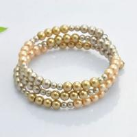 Best Personalized Costume Faux Pearl Stretch Bangle Bracelets Multi Colored And Size wholesale