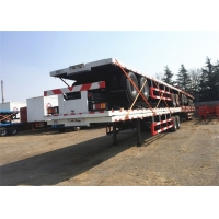 China 20 Foot 40 Feet Flatbed Container Semi Tractor Trailer on sale