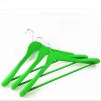 China rubber coated Outerwear Wood Coat Hangers Wide on sale