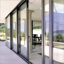 Cheap Custom Aluminium Frame Glass Sliding Stacking Doors Powder Coating Sliding door for sale