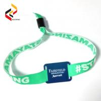 Best High Quality waterproof 13.56MHz NXP MIFARE S50 NFC bracelet WOVEN RFID wristband wholesale