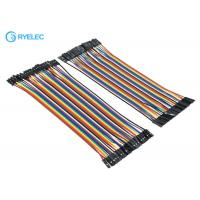 Best 20cm 40 Pin Rainbow Ribbon Cable Female To Female Dupont Ul2651 28 Awg Flat Jumper Cable wholesale