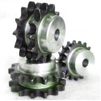 China Duplex 08B-2 12T Double row C45 steel ISO standard roller chain sprocket on sale