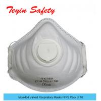 Moulded Valved Respiratory Masks FFP2 NR D Pack of 10 EN149:2001+A1:2009