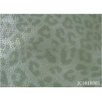 Best printed yangbuck PU leather with woven backing For Shoes and bags wholesale
