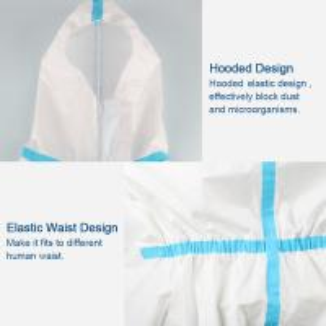 Best Splash Repellent Disposable Protective Clothing , Non Woven Disposable Protective Coveralls wholesale
