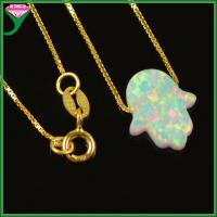 Best Wholesale 925 Sterling Silver Opal hamsa Necklace , hamsa hand necklace, opal hand pendant wholesale