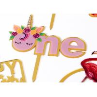 Best Non - Toxic Acrylic Cake Topper For Happy Birthday / Wedding Party Decorations wholesale