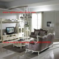 Best Neoclassical Living Room Furniture by Pure white Wall Unit and Coffee table with Luxury Sofa set wholesale