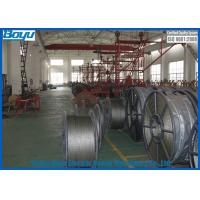 Best Flexible Steel Wire Rope , Anti Twist Braid Steel Rope for Overhead Power Cables Stringing 28mm 580kN wholesale