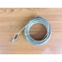 China 5.2mm 7x19 Galvanized Steel Wire Rope Cable With Thimble Bright Coating on sale