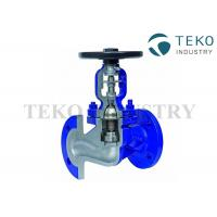 Best DIN Bellow Seal Globe Valve Manual Operated For Steam And Thermal Oil wholesale