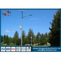 Best Street Lighting Steel Pole Exterior Lamp Posts With Galvanization And Powder Coated wholesale