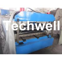 China Metal Wall Sheet Roll Forming Machine With 13 - 20 Forming Station on sale