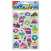Best Children's Puffy Stickers, Comes in Cute and Colorful Designs wholesale