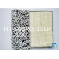 China Grey Color Big Chenille Microfiber Bathroom Mat For Home Using Flat Floor Mat on sale