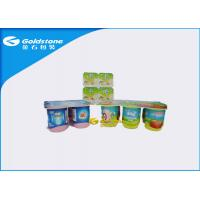 Self Adhesive Custom Waterproof Paper Labels Stickers For PS Plastic Cups