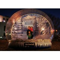 Cheap Xmas Promotion Large Inflatable Globe Fake Snow Type Clear PVC Materials for sale