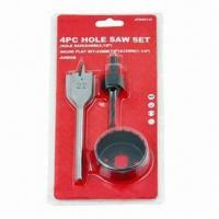 Best 4-piece TCT deep hole saw set with arbor and wood flat bit wholesale