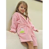China 100% cotton children bath robe, pink , yellow , blue , white on sale
