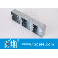 China Metallic Ceiling Outdoor Electrical Outlet Box Covers 1 + 1 + 1 Gang Conduit on sale
