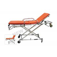 China Multi - Lever Aluminum Alloy X - frame First Aid Ambulance Stretcher on sale