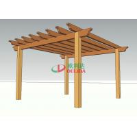 Prefabricated Home Depot Outdoor Pergola , High Density WPC Backyard Pergola Kits