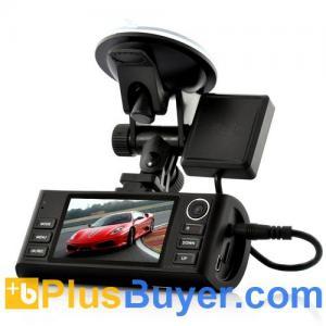 China Napravljat - HD Dual-Camera Car DVR with GPS Logger (1920x720, Night Vision, G-Sensor, HDMI) on sale