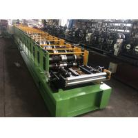 China 16 Rollers K Style Downspout Roll Forming Machine , Gutter Making Equipment PLC Control on sale