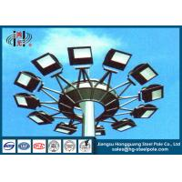 Best 35m Commercial Outdoor High Mast Poles with Lifting System ISO9001 Approval wholesale