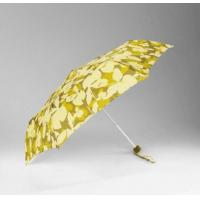 Best Yellow Print Strong Umbrella Wind Resistant190T Pongee Fabric Repels Dirt wholesale
