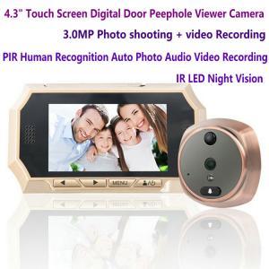 China 4.3 Digital Door Peephole Viewer Photo Video Camera Recorder Night Vision Door Eye Smart PIR Doorbell Intercom System on sale