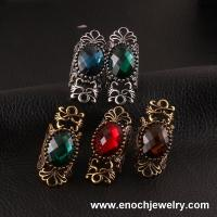 China Magnificent Metal Different Colors Resin Punk Rock Jewelry Ring on sale