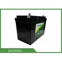 Best 24V 50AH 1kHz Lithium Iron Phosphate Battery MSDS For Leisure wholesale