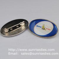 Best Epoxy dome lapel pin badge with safety pin, China lapel pin badge factory for cheap wholesale