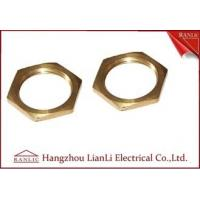 Best Brass 20mm 25mm Hexagon Locknut Self Color CNC Machine Processing Female Thread wholesale