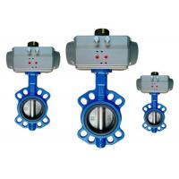 Cheap Flange / Wafer Type Pneumatic Operated Butterfly Valve DN40 ~ DN600 for sale