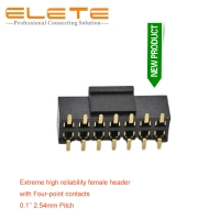Best 2.54mm female header, Reliable contact structure, with four-point contact,phosphor bronze, H=8.5mm wholesale