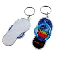 Buy cheap Fashion design 3d mini blue shoe shaped acrylic keychain with custom logo for from wholesalers