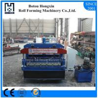 Best Glazed Step Tile Roll Forming Machine , 1000mm Cover Width Roll Forming Machines wholesale