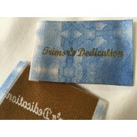China Widely Used Damask Woven Labels , Digital Print Logo Satin Woven Labels on sale