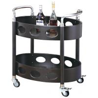 China Room Service Equipments Oval Liquor Trolley Restaurant Supply Equipment For Restaurant on sale