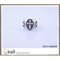 Best Elegant Designs and Excellent Finishing 316l Stainless Steel Cross Ring H-JK0039 wholesale