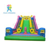 China Awesome event/party rentals Super children Inflatable Colorful Slide For Sale on sale